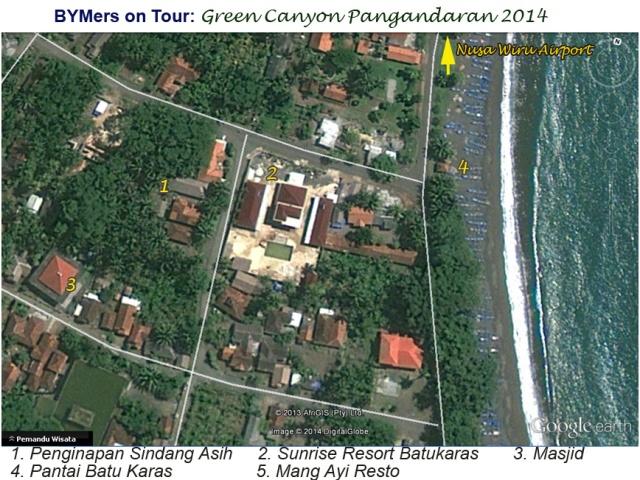 Pantai Batu Karas Pangandaran tempat penginapan peserta Body Rafting Green Canyon